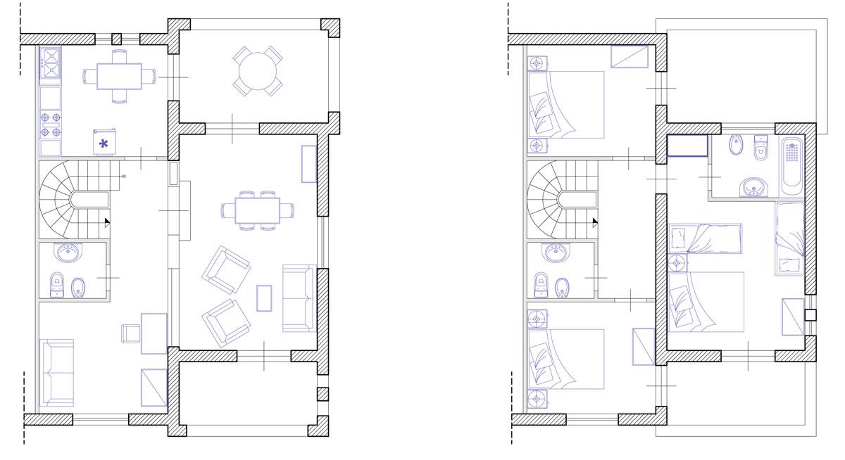 Ville appartamenti a baia domizia giulivo hotel village for 2 piani garage baia